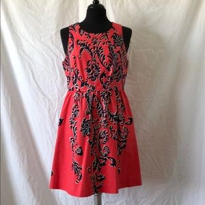crown & ivy Dresses - Sleeveless Coral/Navy dress